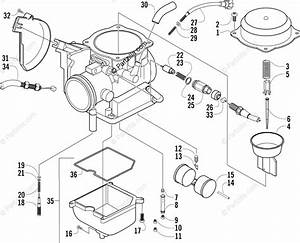 Arctic Cat Atv 2003 Oem Parts Diagram For Carburetor