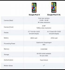 Full Specs Info Of Pixel 4 Images  U0026gt  Pixel 4 Manual User