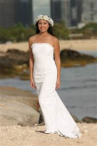 simple beach wedding dress with strapless neckline ipunya With wedding dresses for beach ceremony