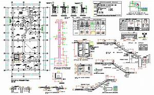 Staircase And Foundation Plan Autocad File  Centre Line