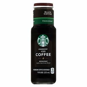 Starbucks Iced Coffee Glass Bottle Black Unsweetened ...