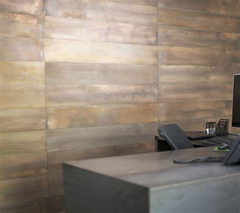 industrial metal wall panels copper patina artisan hardware