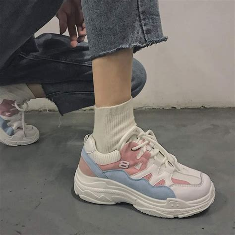 pin  sneakers shoes aesthetic korean fashion