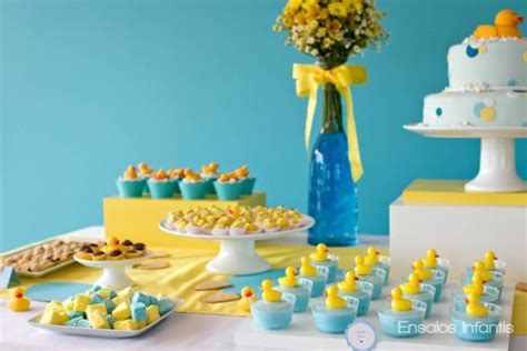 Kara's Party Ideas Yellow And Blue Rubber Duckie 1st