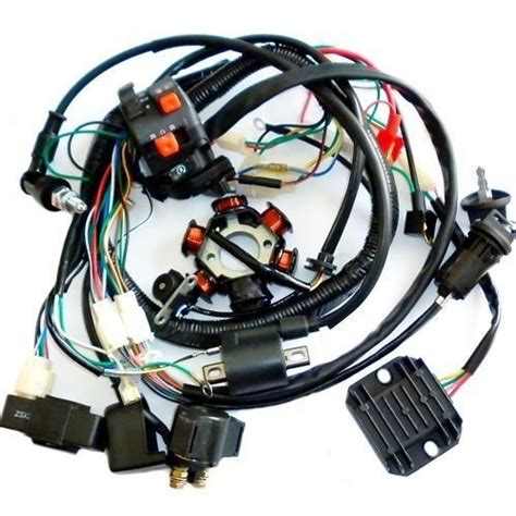 full electrics wiring harness cdi coil solenoid gy cc
