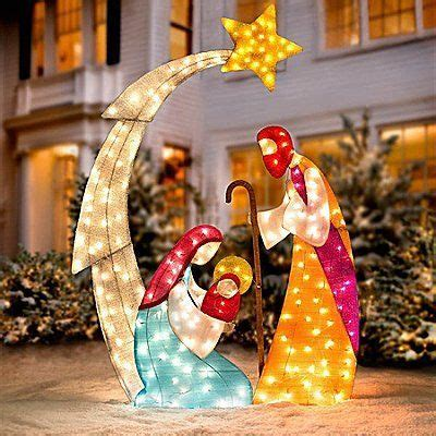 knlstore 6ft tall christmas lighted nativity scene display