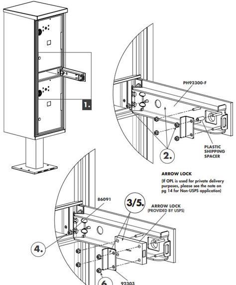 usps master key template 1590 opl parcel locker installation