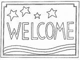 Coloring Welcome Mat Rug Pages Mats Patterns Sketch Signs Hooking Word Rugs Sunday Stripes Stars Mom Sketchite Daddy Visit sketch template
