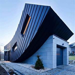 Small, Home, Creates, Large, Statement, With, Vertically, Curved, Facade
