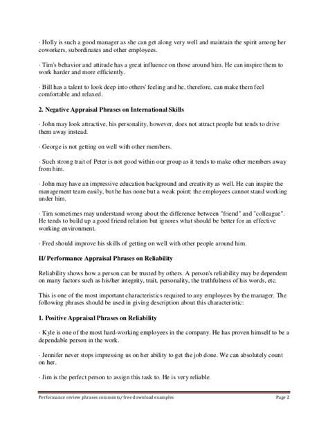 amazing words for appraisal gallery resume sles