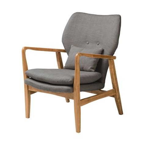 Buy Armchair by Buy Grey Upholstered Mid Century Armchair From Fusion Living