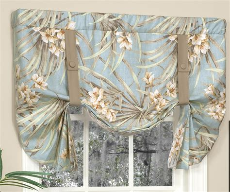 tie  valances solid colored patterned prints