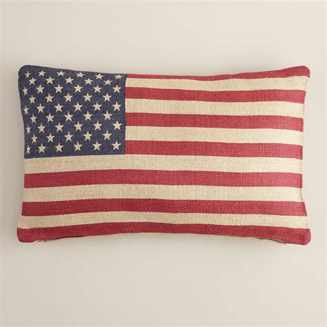 american flag pillow american flag lumbar pillow world market