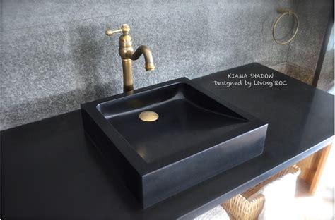 undermount bathroom sink with tile 16 quot x16 quot black granite bathroom vessel sinks kiama