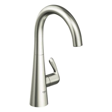 kitchen faucet grohe shop grohe ladylux supersteel high arc kitchen faucet at