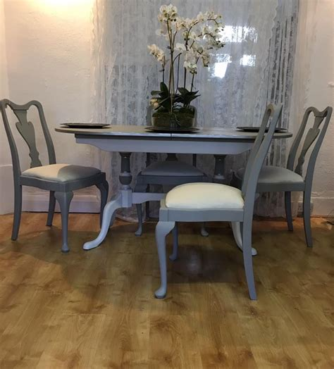 Painted Kitchen Furniture by Chalk Painted Dining Set Style Painted Table