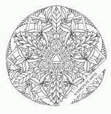 Coloring Complex Printable Mandala Popular sketch template