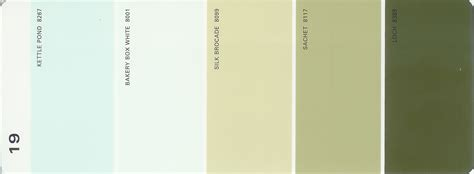 martha stewart paint 5 color palette card 19 thelandofcolor