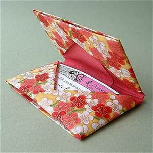 Origami Card Holder Folding Instructions How to Fold an