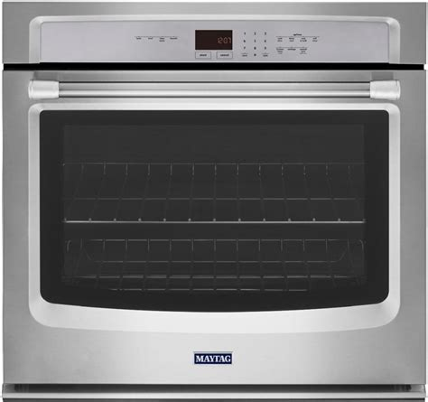 maytag mewds   single thermal electric wall oven   cu ft capacity precision