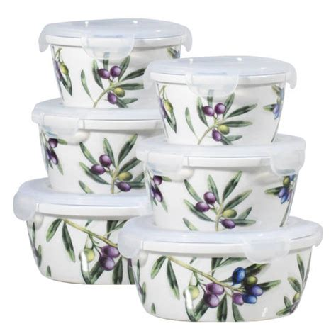 ceramic kitchen storage containers olive leaf porcelain food container id 4715335 product 5184