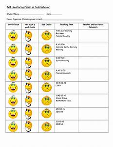 behavior modification charts daily behavior chart on With smiley face behavior chart template