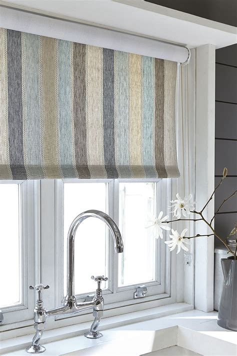 Kitchen Blinds And Shades by Blind Fabric Arbuthnott Scandi Stripe Cool