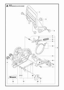 Husqvarna 560 Xp  Xpg Chainsaw Chain Brake  U0026 Clutch Cover