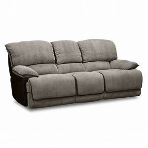 Furniture faux dark brown leather reclining sectional for Sectional sofa with two recliners