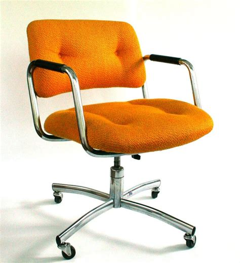 vintage office desk chair mid century upholstered