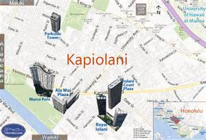 Marco Polo Honolulu Condo Map