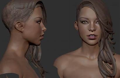 Zbrush Face Head Chest Eye Skin Wallpapers
