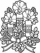 Coloring Candle Birthday Cake Decoration sketch template
