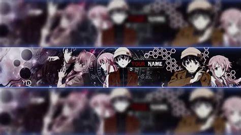 mirai nikki anime banner template  youtube