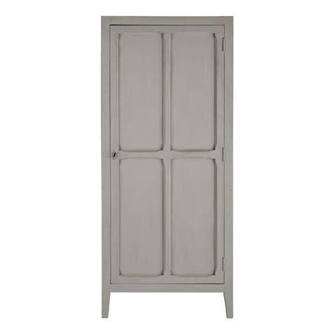 Grey Wood Wardrobe by Mango Wood Wardrobe In Grey W 75cm Pensionnat Maisons Du