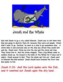 Jonah and the Whale Sunday School Activities