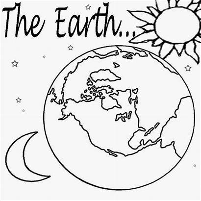 Coloring Planet Solar Pages System Earth Printable