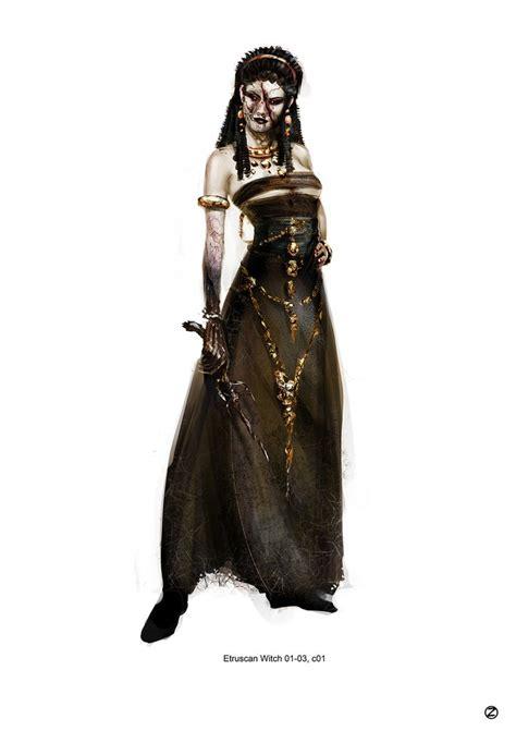 grotesque witch concept art  hansel gretel