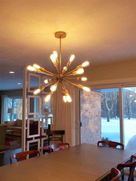30832 dining room chandeliers lowes grand sputnik chandelier light painted gold diy simple redesign
