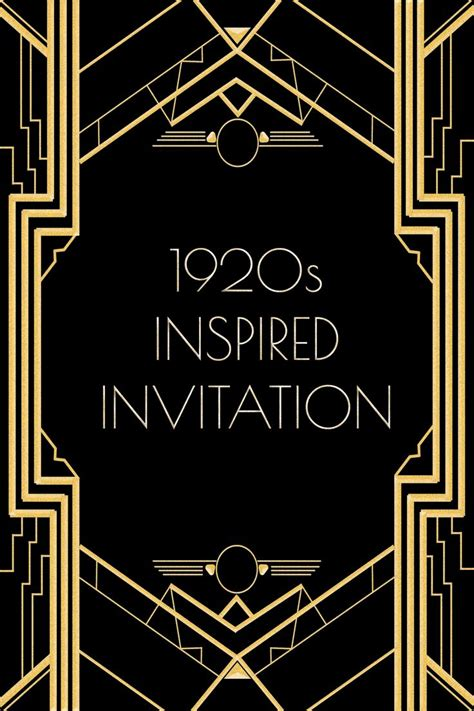 inspired invitation template   gatsby