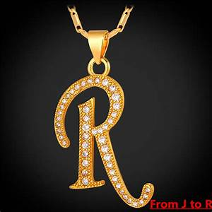 compare prices on j pendant necklace gold online shopping With gold letter chain