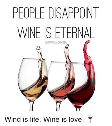 I Love Wine Meme - people disappoint wine is eternal wind is life wine is love disappointed meme on sizzle