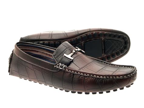 Mens Moccasin Mule Loafers Flexible Shoes Faux Leather