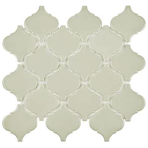 Home Depot Merola Lantern Ceramic Tile by Merola Tile Metro Lantern Glossy Grey 9 3 4 In X 10 1 4