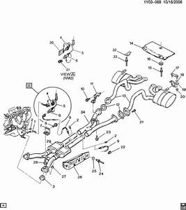 01-04 Corvette Rear Exhaust Right 88895973
