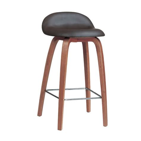 tabouret chaise nspire counter stool walnut disc 203 358 modern