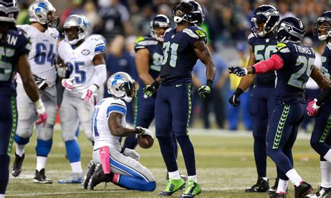 nfc playoff picture seahawks  face lions  wild card