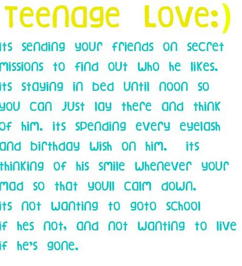 Teen Love Quotes Best Teen Quotes Teenage Love  Teenage Girls Quotes Quotesgram
