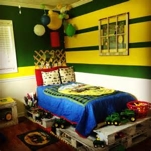 my little boy s john deere room with a pallet bed ashton