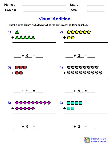 addition worksheets dynamically created addition worksheets